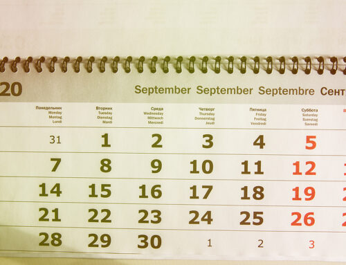 September 2020 Individual Due Dates